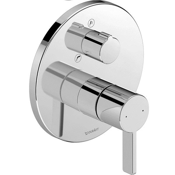 Duravit D-NEO vaňová podomietková batéria, prepínač vaňa / sprcha, chróm DE5210012010