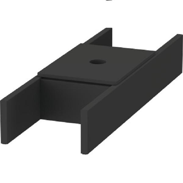 Duravit D-NEO vybavenie zásuvky - organizér 115 x 370 mm s vekom, diamantová čierna UV9846