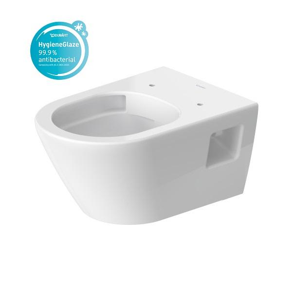 Duravit D-NEO závesná WC misa 37 x 54 cm, Rimless, Hygiene Glaze, biela 2578092000