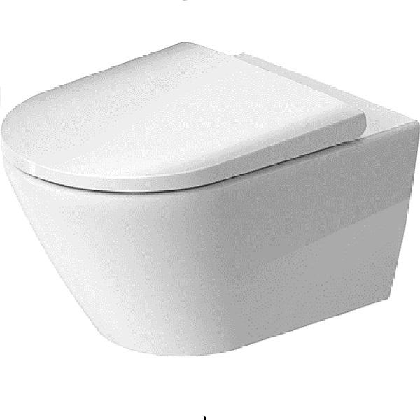 Duravit D-NEO závesná WC misa 37 x 54 cm, Rimless, skryté upevnenie Durafix, biela 2577090000