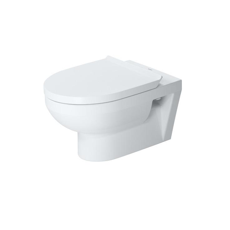 DURAVIT Dura Style Basic závesná WC misa 36,5 x 54 cm Rimless, biela s glazúrou Hygiene Glaze 2562092000