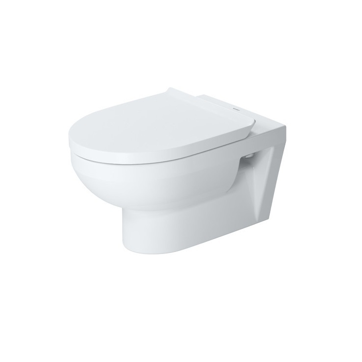 DURAVIT Dura Style Basic závesná WC misa 36,5 x 54 cm Rimless, biela s úpravou WonderGliss 25620900001