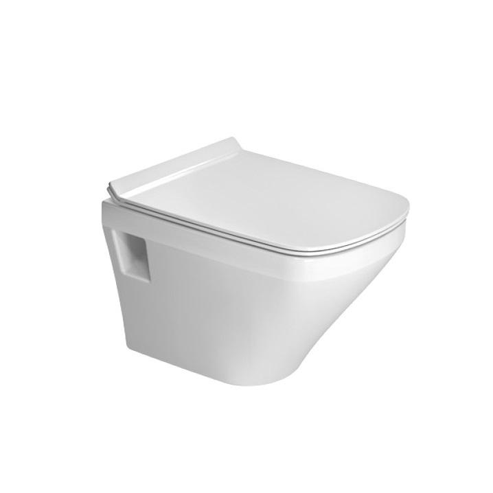 DURAVIT Dura Style Compact závesná WC misa 37 x 48 cm Rimless, biela s glazúrou Hygiene Glaze 2571092000
