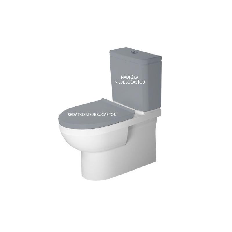 DURAVIT Dura Style misa WC kombi 36,5 x 65 cm Rimless, odpad variabilný, biela s glazúrou Hygiene Glaze 2182092000