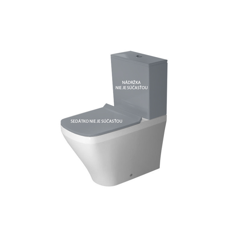 DURAVIT Dura Style misa WC kombi stojaca 37 x 63 cm, hlboké splachovanie, variabilný odpad, biela s úpravou WonderGliss 21550900001