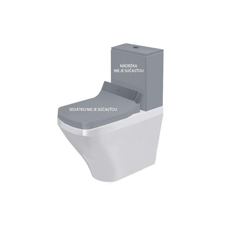 DURAVIT Dura Style misa WC kombi stojaca 37 x 70 cm pre SensoWash, odpad variabilný, biela s úpravou WonderGliss 21565900001