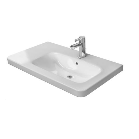 DURAVIT Dura Style nábytkové asymetrické umývadlo 80 x 48 cm, biele s úpravou Wonder Gliss 23268000001