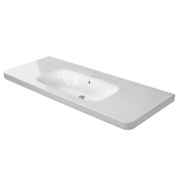 DURAVIT Dura Style nábytkové umývadlo 120 x 48 cm s prepadom, bez otvoru pre batériu, biele s úpravou WonderGliss 23201200601