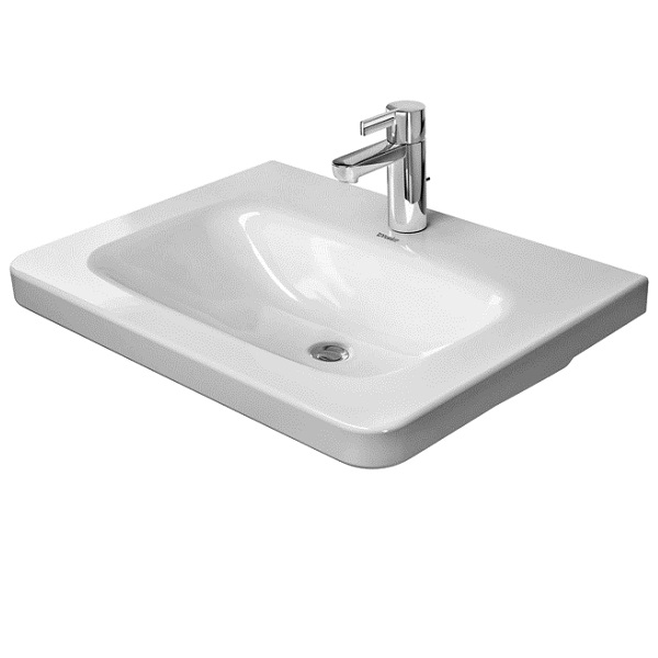 DURAVIT Dura Style nábytkové umývadlo 65 x 48 cm bez prepadu, biele s úpravou WonderGliss 23206500411