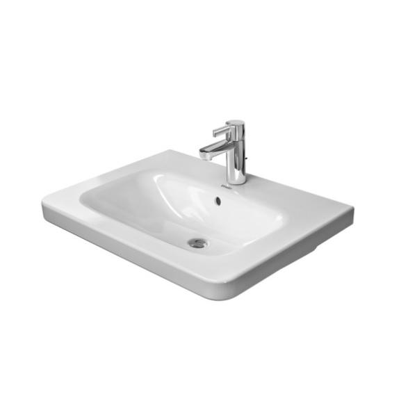 DURAVIT Dura Style nábytkové umývadlo 65 x 48 cm s prepadom, biele s úpravou WonderGliss 23206500001
