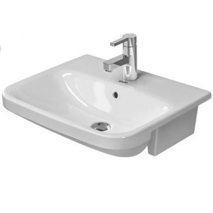 DURAVIT Dura Style polozápustné nábytkové umývadlo 55 x 44,5 cm biele 0375550000