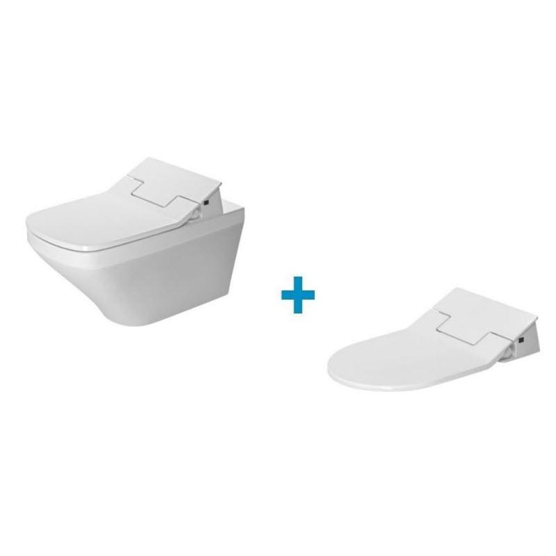 DURAVIT Dura Style SET 2v1 WC misa Rimless závesná so sedátkom 631001002004300