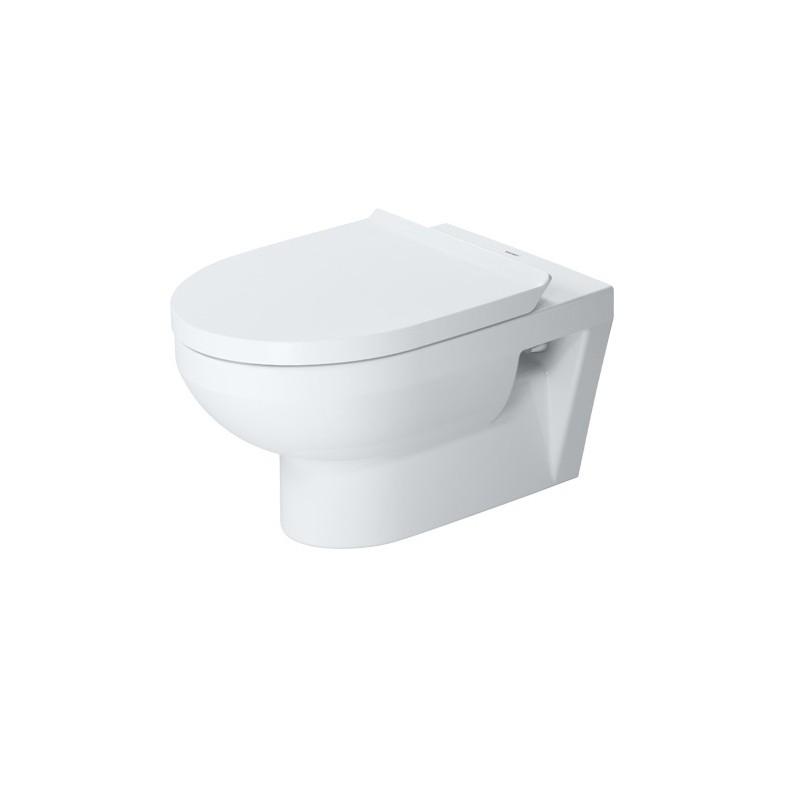 Duravit DURA STYLE SET 2v1 závesná WC misa Rimless s antibakteriálnou glazúrou Hygiene Glaze ( 2562092000) s WC sedátkom 002079000 SoftClose, 398993