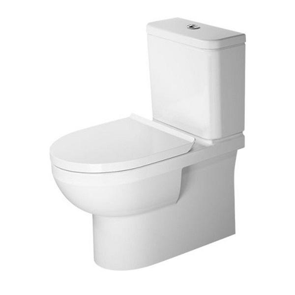 DURAVIT Dura Style SET 3v1 WC misa kombi Rimless 2182090000 so sedátkom 002079000 a splachovacou nádržkou 372754
