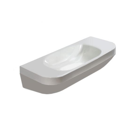 DURAVIT Dura Style umývadlo 50 x 22 cmbez otvoru na batériu, bez prepadu, biele s WonderGliss 07135000001