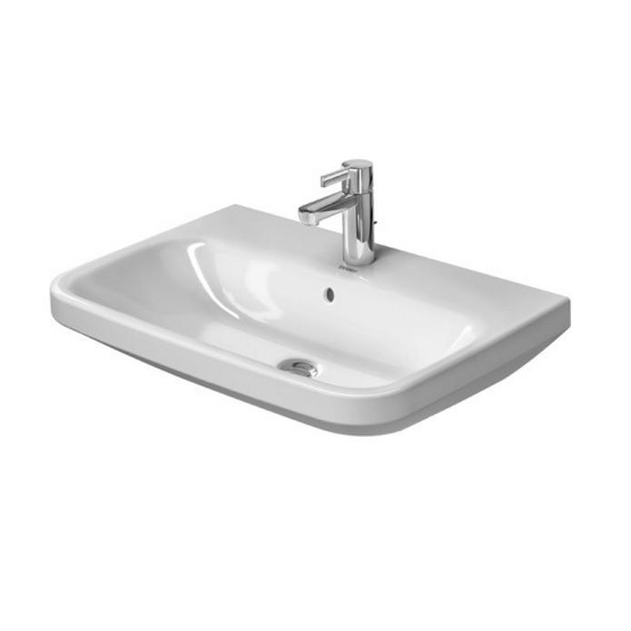 DURAVIT Dura Style umývadlo 65 x 44 cm s prepadom, biele s úpravou WonderGliss 23196500001