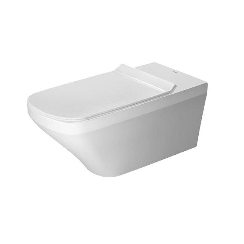 DURAVIT Dura Style Vital závesná WC misa 37 x 70 cm pre telesne postihnuté osoby, upevnenie Durafix, biela s úpravou WonderGliss 25590900001