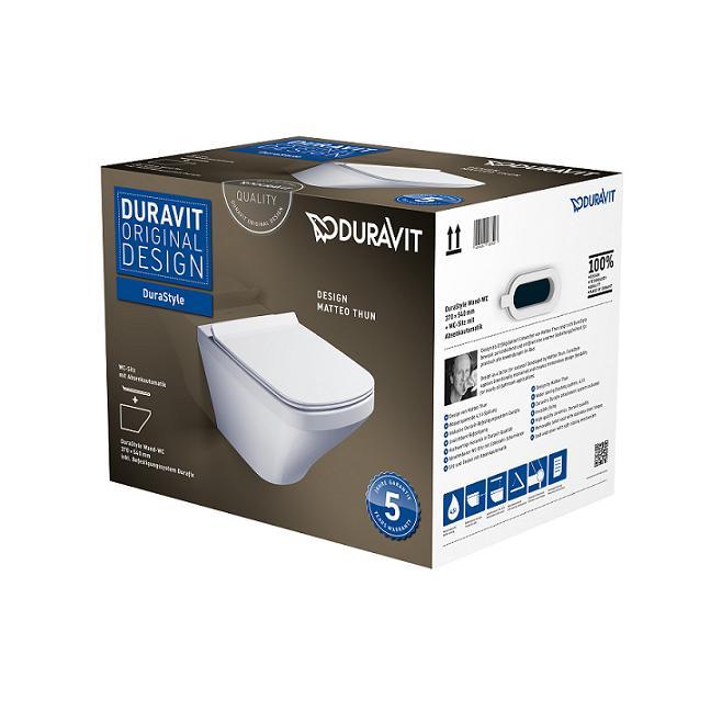 DURAVIT Dura Style WC misa závesná so sedátkom 45520900A1