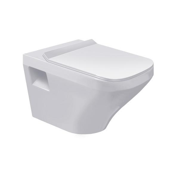 DURAVIT Dura Style závesná WC misa 37 x 54 cm biela s úpravou WonderGliss 25360900001