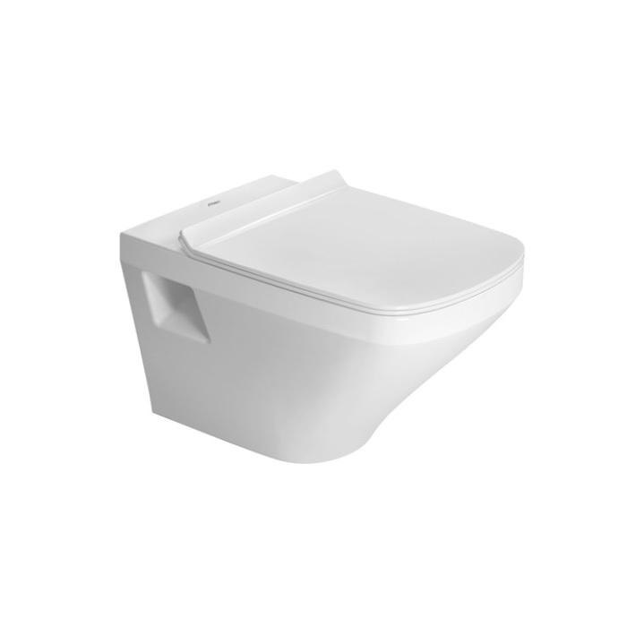 DURAVIT Dura Style závesná WC misa 37 x 54 cm Rimless, biela s glazúrou Hygiene Glaze 2538092000