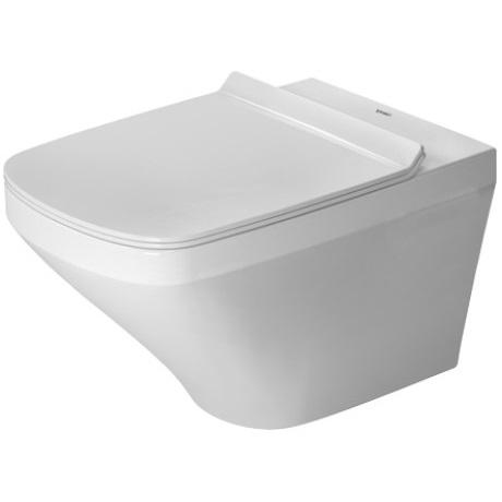 DURAVIT Dura Style závesná WC misa 37 x 54 cm Rimless, upevnenie Durafix, biela s úpravou Wonder Gliss 25510900001