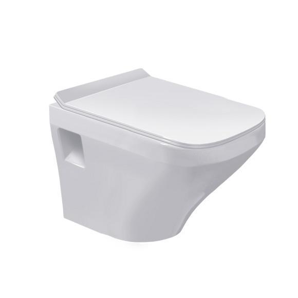 DURAVIT Dura Style závesná WC misa Compact 37 x 48 cm biela 2539090000