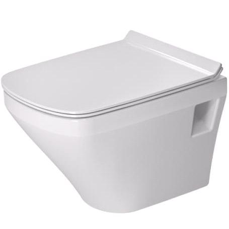 DURAVIT Dura Style závesná WC misa Compact 37 x 48 cm, biela s úpravou Wonder Gliss 25390900001