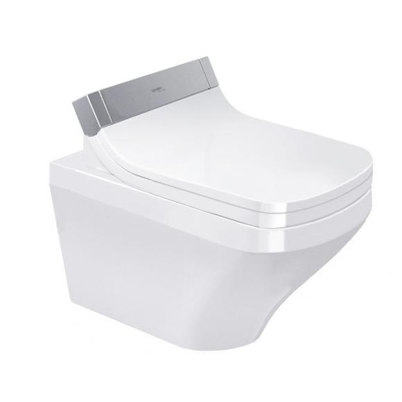 DURAVIT Dura Style závesná WC misa pre SensoWash 37 x 62 cm Rimless, upevnenie Durafix, biela s úpravou Wonder Gliss 25425900001