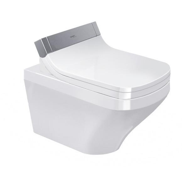DURAVIT Dura Style závesná WC misa pre SensoWash 37 x 62 cm, upevnenie DURAFIX, biela s úpravou WonderGliss 25375900001