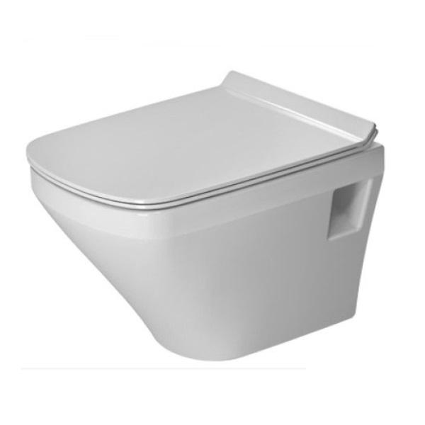 DURAVIT Dura Style závesná WC misa Rimless so sedátkom SoftClose 37 x 48 cm biela 45710900A1