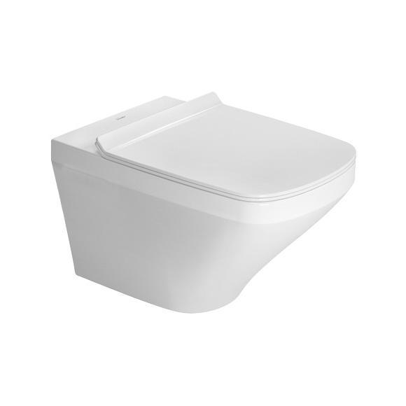 DURAVIT Dura Style závesná WC misa Rimless so sedátkom SoftClose 37 x 54 cm biela 45510900A1