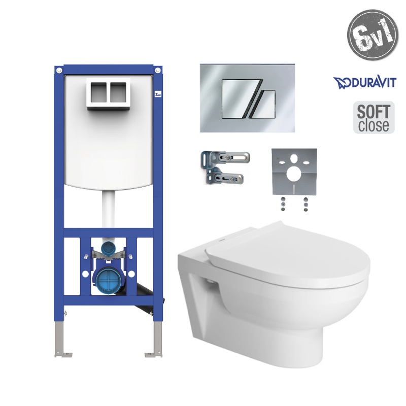 DURAVIT DuraStyle Basic Rimless SoftClose SET WC 6v1 s tlačítkom S707CH