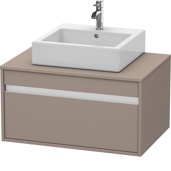 Duravit KETHO skrinka pod umývadlo 800 x 426 x 550 mm univerzálna, s výrezom pre umývadlo v strede, 1-zásuvková, matná bazaltová KT669404343