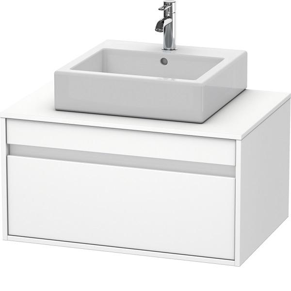 Duravit KETHO skrinka pod umývadlo 800 x 426 x 550 mm univerzálna, s výrezom pre umývadlo v strede, 1-zásuvková, matná biela KT669401818