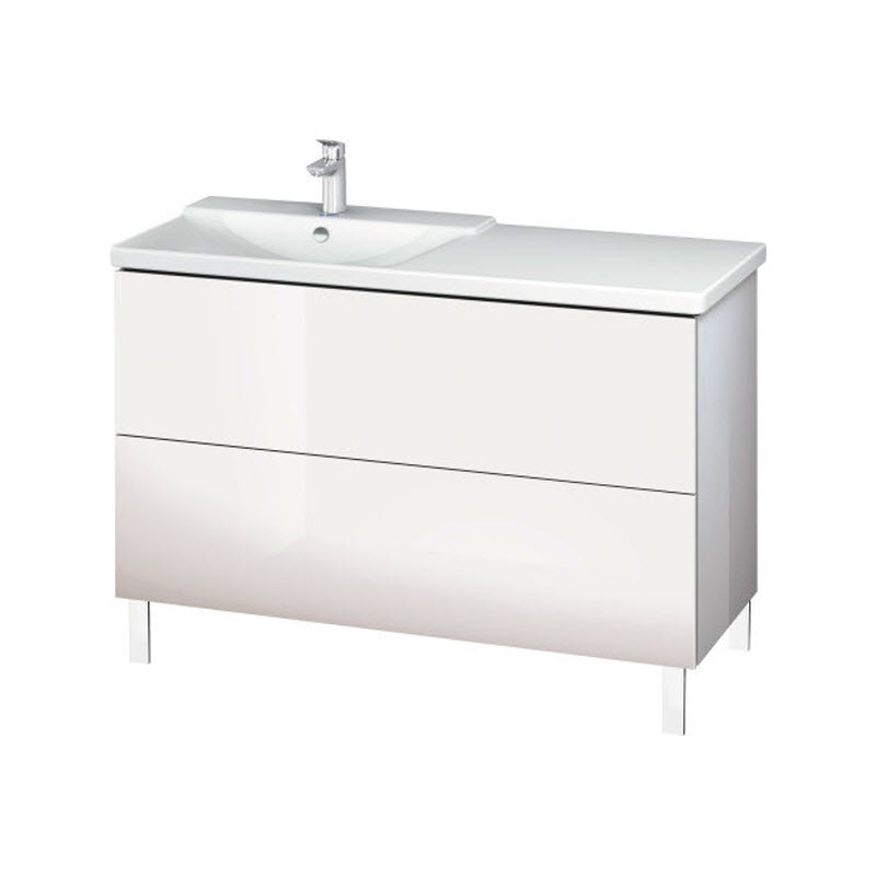 DURAVIT L-CUBE skrinka pod umývadlo stojaca biela LC660302222