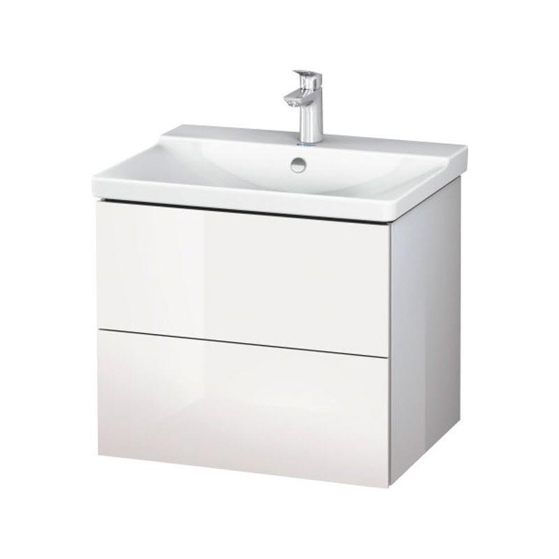 DURAVIT L-CUBE skrinka pod umývadlo závesná biela LC624402222