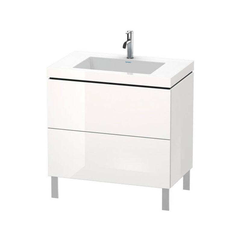 DURAVIT L-CUBE skrinka s umývadlom stojaca biela LC6937O2222