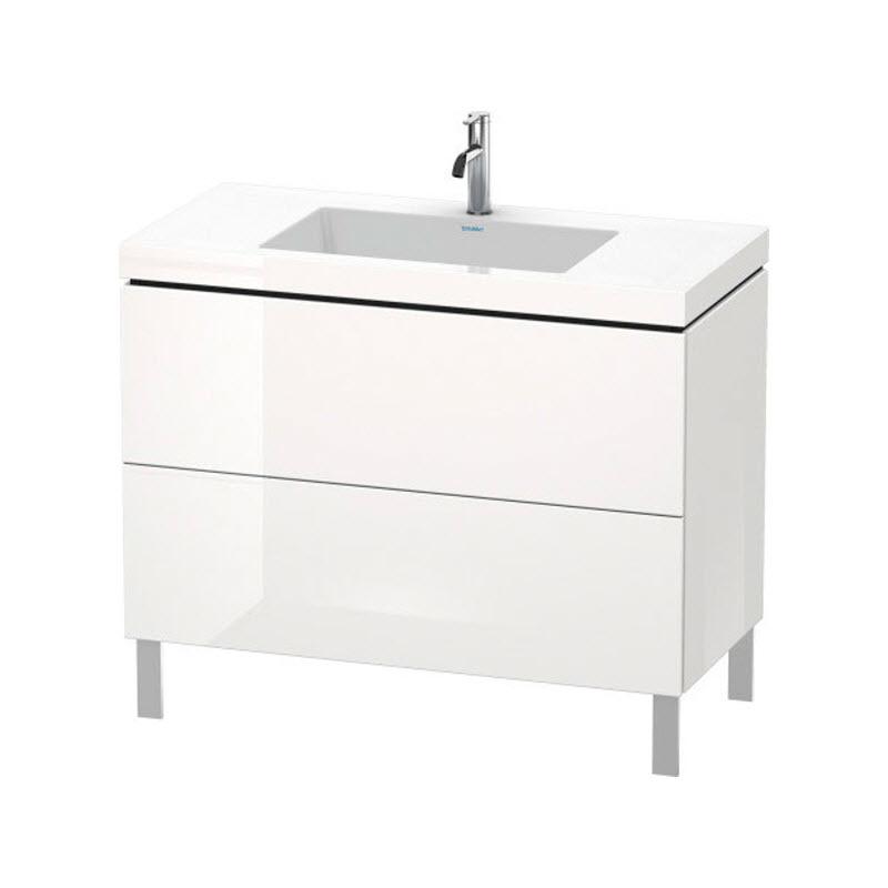 DURAVIT L-CUBE skrinka s umývadlom stojaca biela LC6938O2222