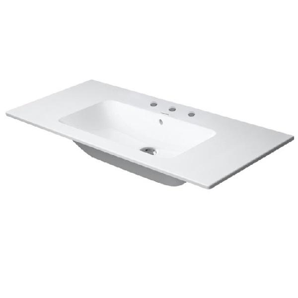 DURAVIT ME by Starck 103 x 49 cm nábytkové umývadlo, 3 otvory pre batériu, biele 2336100030