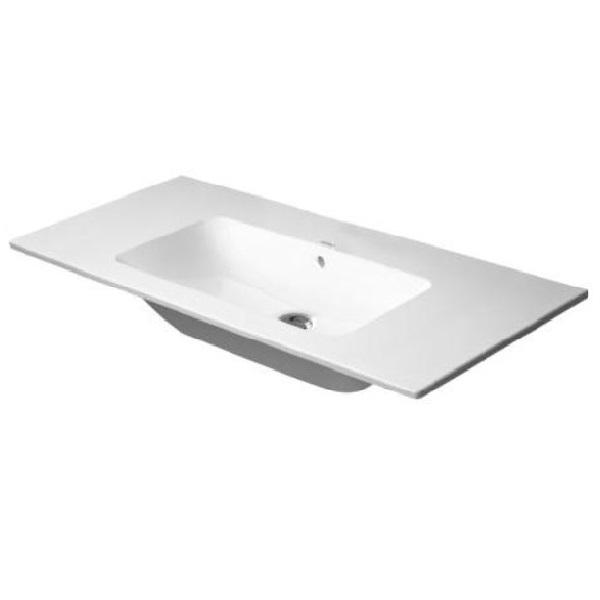DURAVIT  ME by Starck 103 x 49 cm nábytkové umývadlo s prepadom, bez otvoru pre batériu, biele s úpravou WonderGliss 23361000601
