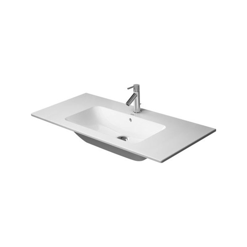 DURAVIT ME by Starck 103 x 49 cm nábytkové umývadlo s prepadom, biele s úpravou WonderGliss 23361000001