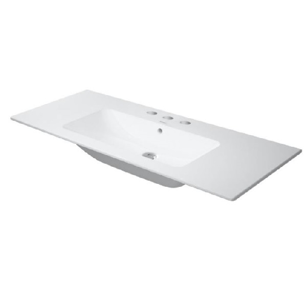 DURAVIT ME by Starck 123 x 49 cm nábytkové umývadlo, 3 otvory pre batériu, biele 2336120030