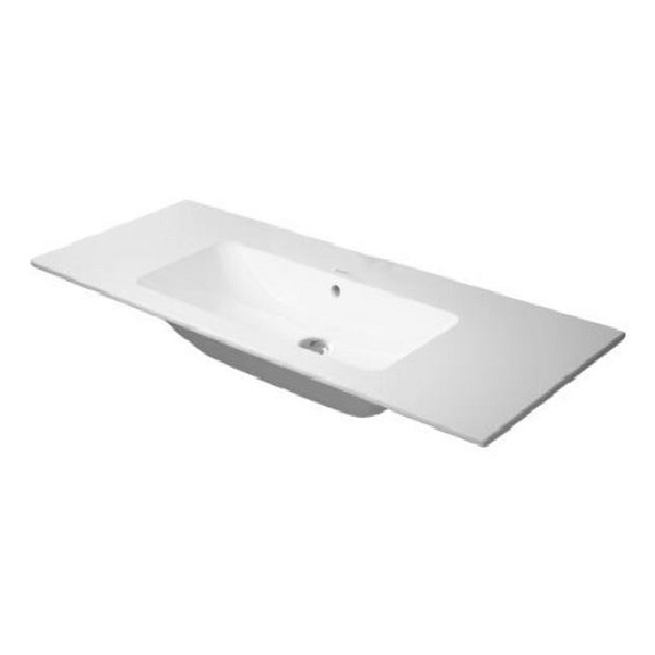 DURAVIT ME by Starck 123 x 49 cm nábytkové umývadlo bez otvoru pre batériu, biele s úpravou WonderGliss 23361200601