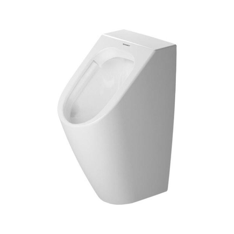 DURAVIT ME By Starck 30 x 35 cm pisoár Rimless, zadný prívod, s cieľovou muškou, biely s glazúrou Hygiene Glaze 2809302007