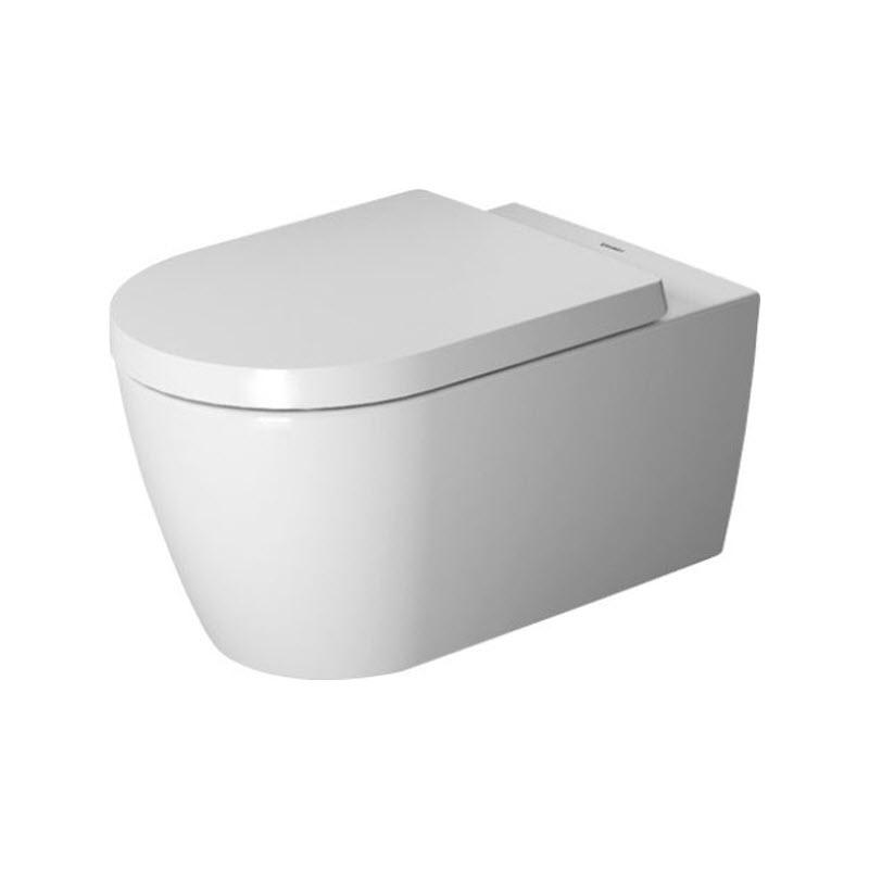 DURAVIT Me by Starck 37 x 57 cm závesná WC misa Rimless, Durafix, biela s glazúrou Hygiene Glaze 2529092000
