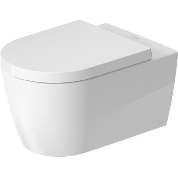 DURAVIT Me by Starck 37 x 57 cm závesná WC misa Rimless HygieneFlush, Durafix, biela s glazúrou Hygiene Glaze 2579092000