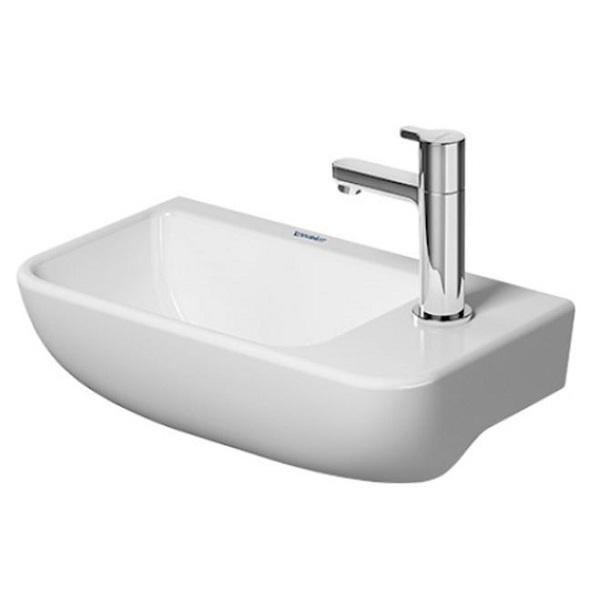 DURAVIT ME by Starck 40 x 22 cm umývadielko s otvorom pre batériu vpravo, biele s úpravou WonderGliss 07174000001