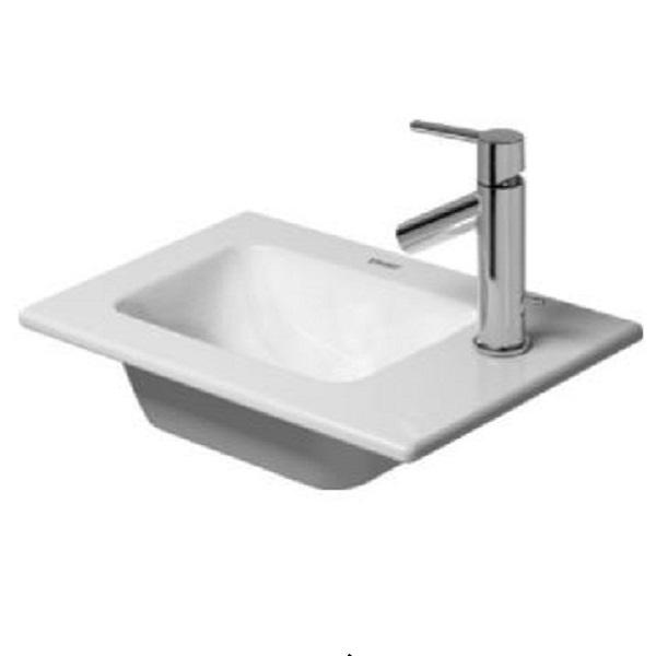 DURAVIT ME by Starck 43 x 30 cm nábytkové umývadlo bez prepadu, biele s úpravou WonderGliss 07234300411
