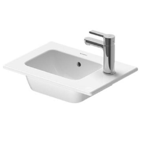DURAVIT ME by Starck 43 x 30 cm nábytkové umývadlo s prepadom, biele s úpravou WonderGliss 07234300001