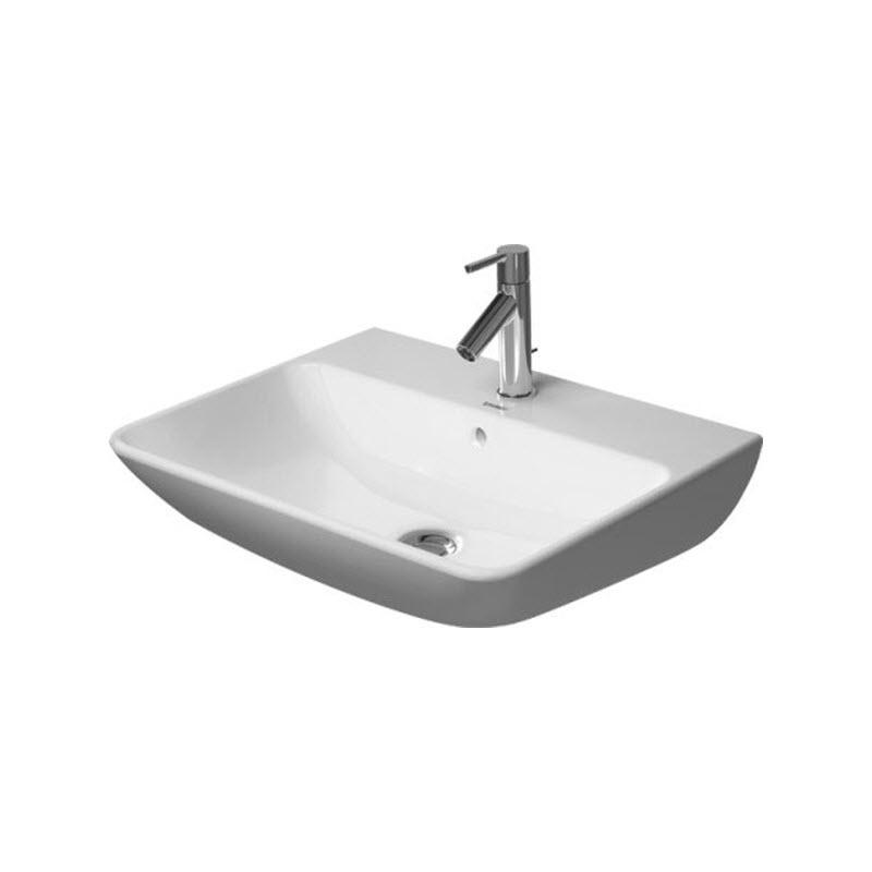 DURAVIT Me by Starck 55 x 44 cm umývadlo s prepadom, biele 2335550000